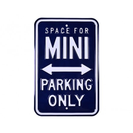 Plaque murale Mini Parking Only Bleu