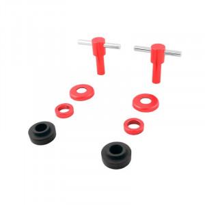 Kit vis T de cache culbuteur anodisées x 2 - Rouge-austin-mini