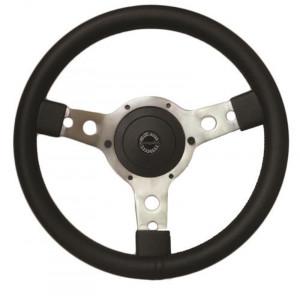 Volant Springalex Cuir 13'' alu (Moyeu en option)-Austin Mini