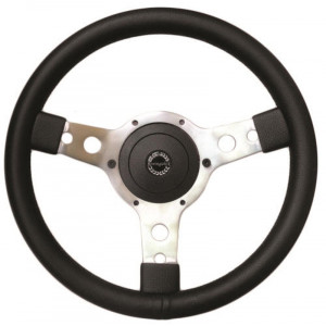 Volant Springalex Cuir 14'' alu (Moyeu en option)-Austin Mini